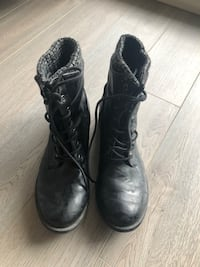 Black Army Style Lace Up Boots  Markham, L3R