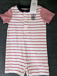 white and red stripe polo shirt Falls Church, 22044
