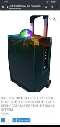 Sharper Image (Bluetooth Portable Disco Light Show Speaker)
