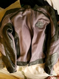 brown and black leather zip-up jacket Richmond, 23227