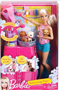 BARBIE 'SUDS & HUGS PUPS' Set: Brand New! Toronto, M6G