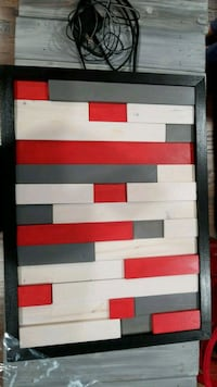 white and red wood art Silver Spring, 20906