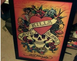 Ed hardy 3d poster