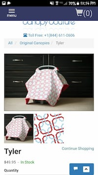 Carseat canopy x2
