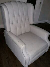 white tufted fabric sofa chair Los Angeles, 90037
