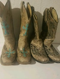 pair of brown leather cowboy boots Denver, 80211