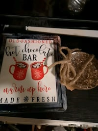 Decorative sign and coaster