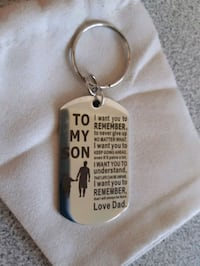 To son love dad keychain  Ajax, L1S 4E5