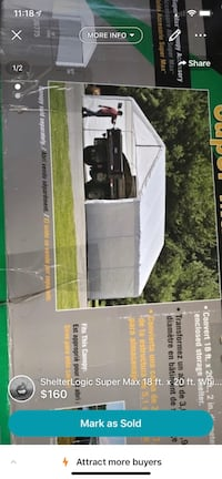 ShelterLogic Super Max 18 ft. x 20 ft. White Canopy Enclosure Kit brand new Toronto, M3K 1H5