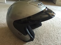 "Metallic Silver HJC ""AC-3"" Motorcycle Helmet Ellicott City, 21043"