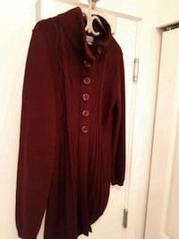 ladies knitted sweater colour burgundy size XL Mission, L6A 4R9