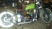 black and green mini bike