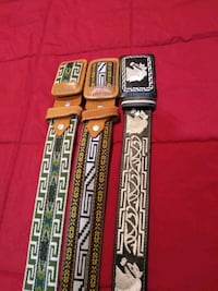 Men's belts from mx . size first two to the left 38 right size 36  Las Vegas, 89169