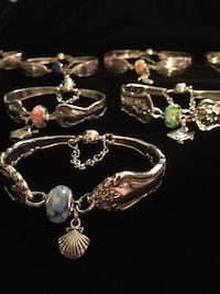 Handmade Silverware Jewlery made from spoons and forks. Edmonton, T5E 5N4