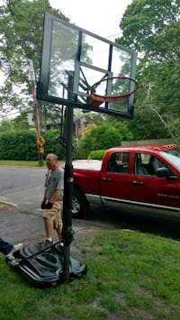 black and gray outdoor basketball system Oakdale, 11769