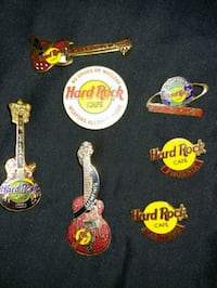 Collection of Hard Rock Cafe pins - various cities Brownsburg, 46112