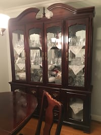 brown wooden framed glass display cabinet Toronto, M1E 3L4