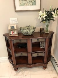 Dark wood foyer table with drawers Oceanside, 11572