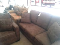 brown suede 3-seat sofa and loveseat Phoenix, 85018