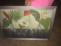 green leaf plant painting with brown wooden frame Rockingham, 28379