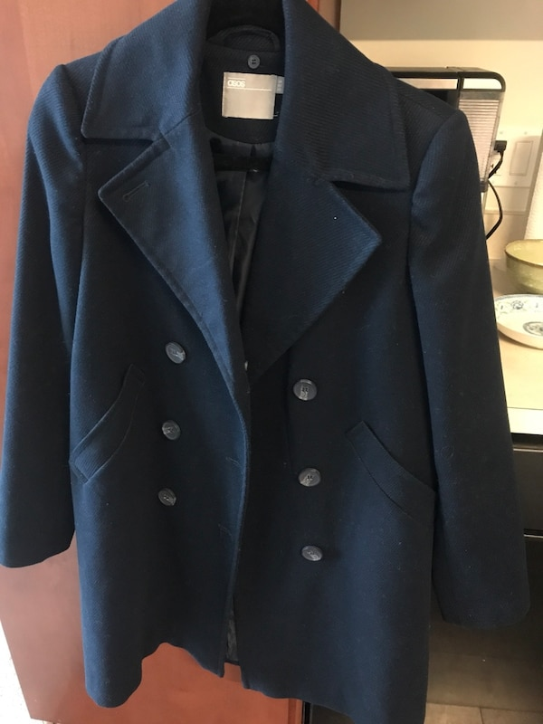 Navy coat from ASOS, US size 0