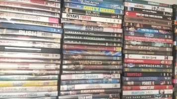 Big lot of 500 DVD's from Closed Tampa  Flea Market - Lot A