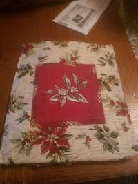 white and red floral Longaberger tote Chambersburg, 17202