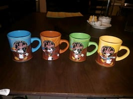 4 Rare Mickey Mouse collector mugs