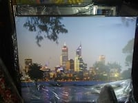 City skyline picture on canvas