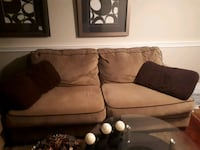 brown fabric loveseat and sofa together Quinte West, K8V 5P8