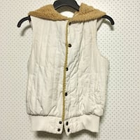 White and brown button up vest Galt, 95632