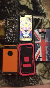 4 IPhone 6 cases. 1 LG G3 case.  Lethbridge, T1J 4B3