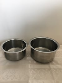two stainless steel cooking pots Toronto, M1H 3H3