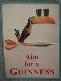 Vintage Aim for a Guiness metal sign Baltimore