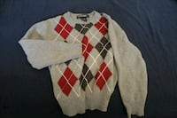 white, red, and black argyle sweater Fort Collins, 80526