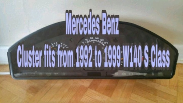 Benz S320 w140 S class cluster