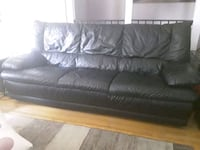 Black leather couch New Tecumseth, L0G 1A0