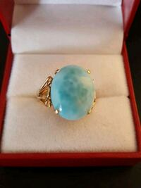 gold and blue gemstone ring in box Salaberry-de-Valleyfield, J6T 1P4
