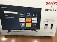 "40""Sanyo smart tv brand new in box 90days labour and part warranty  Toronto, M1W 2N2"
