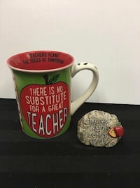 Apple Teacher Mug and Desk Rock  Facebook: Unique gifts for all occasions  Barrie, L4N 7X3