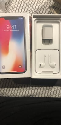 Headphones for iPhone X wall charger and cables.  3484 km