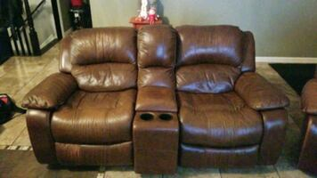 Leather Recliner and recliner couch.