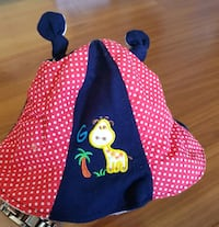 Giraffe - Blue/Red/Polka dot Floppy Hat  Calgary, T3J 3J7