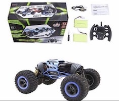 Rc car with 2 batteries. New