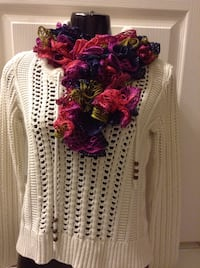 Adult frilly scarf