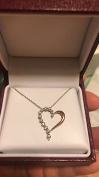 Helzberg Diamonds Diamond & Rose Gold heart necklace Oak Grove, 55011
