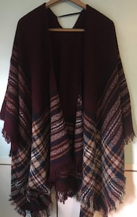 maroon and multi-colored poncho Chevy Chase Section Five, 20815