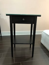 2 IKEA Hermes night stands w glass top excellent condition $100 OBO  Toronto, M1R 4V1