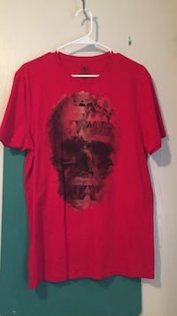 red and black crew-neck t-shirt Brownsville, 78520