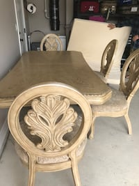 Beige elegant dinning table with 8 chairs  Delta, V4C 3H3